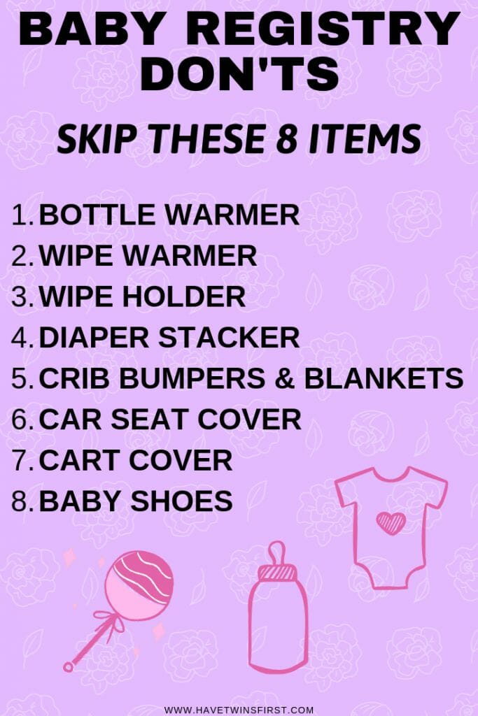 a list of what not to put on baby registry