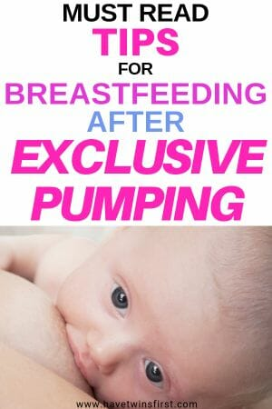 Must read tips for breastfeeding after exclusive pumping.