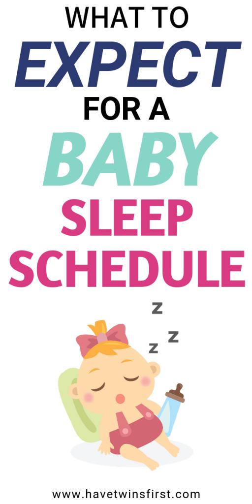 baby sleep schedule expectations