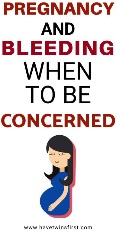 Pregnancy and bleeding, when to be concerned.