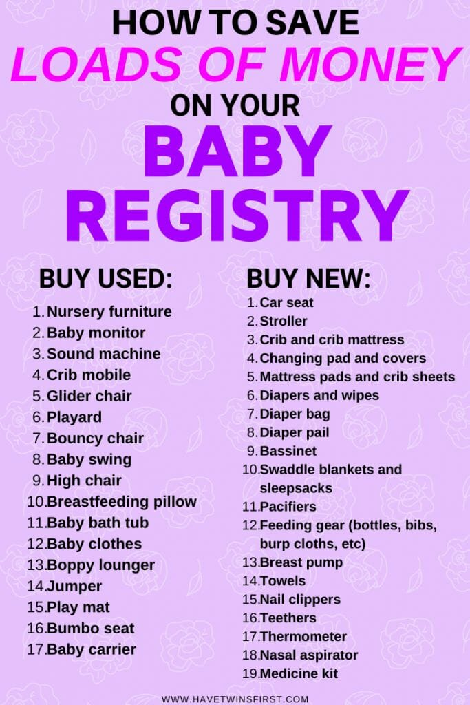 list of baby items to buy used