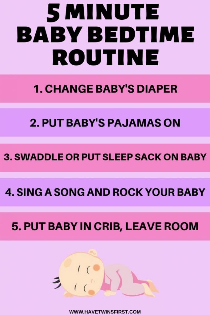 5 minute baby bedtime routine
