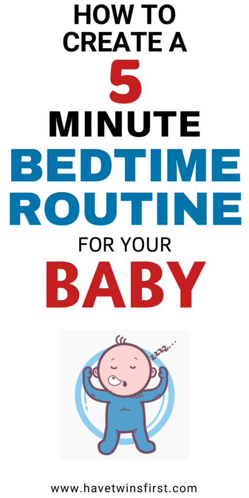 how to create a 5 minute baby bedtime routine