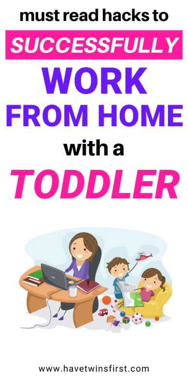 Must read hacks to successfully work from home with a toddler.