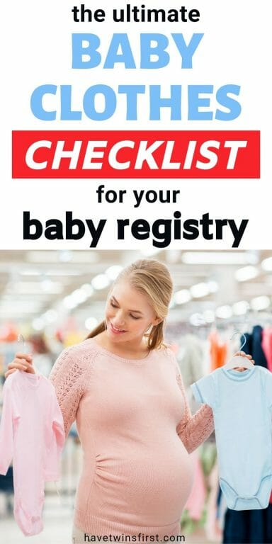 The ultimate baby clothes checklist for your baby registry.