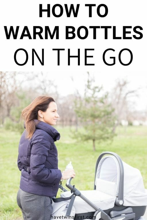How to warm bottles on the go.