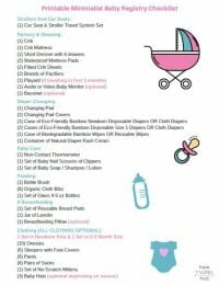 Free printable minimalist baby registry checklist.