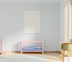Baby room with minimal baby items. This post is all about how to create a minimalist baby registry.