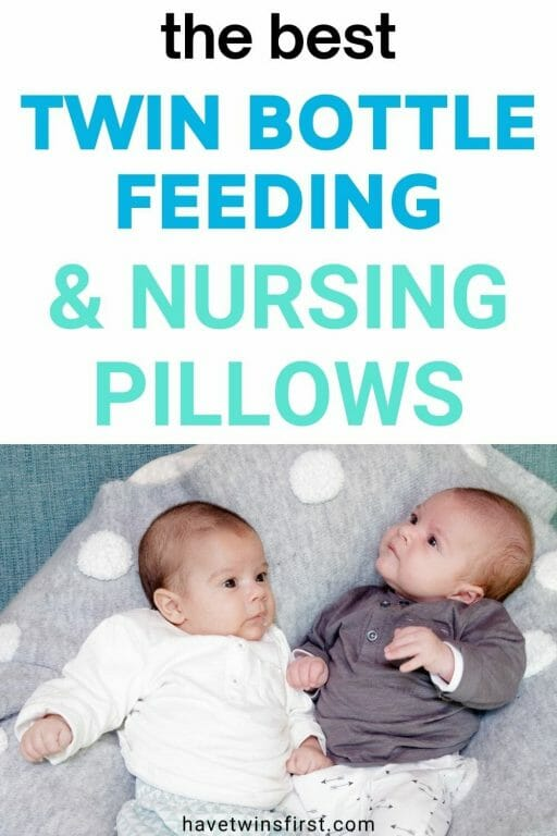 The best twin bottle feeding and nursing pillows.