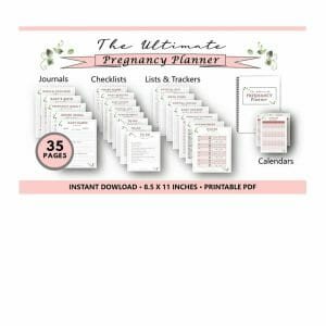 Photo of the ultimate pregnancy planner.