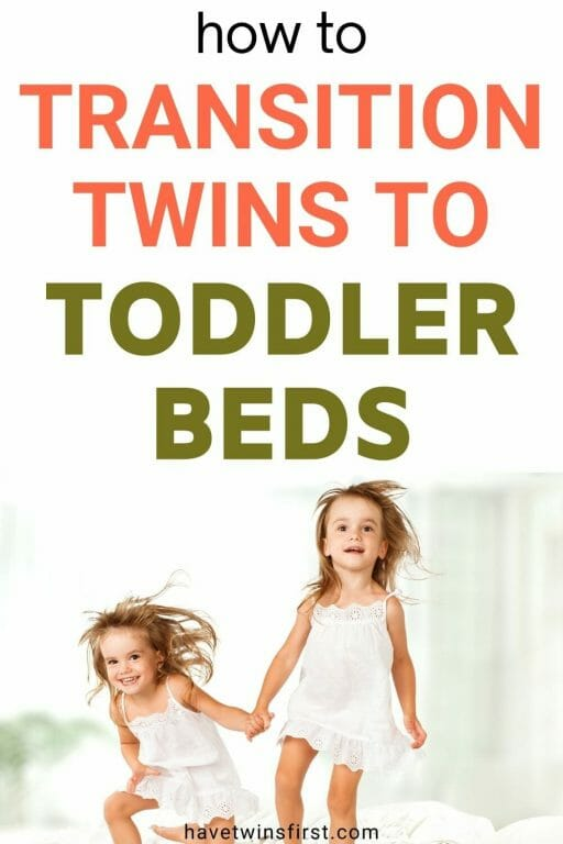 How to transition twins to toddler beds.