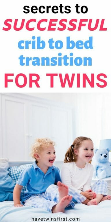 Secrets to successful crib to bed transition for twins.