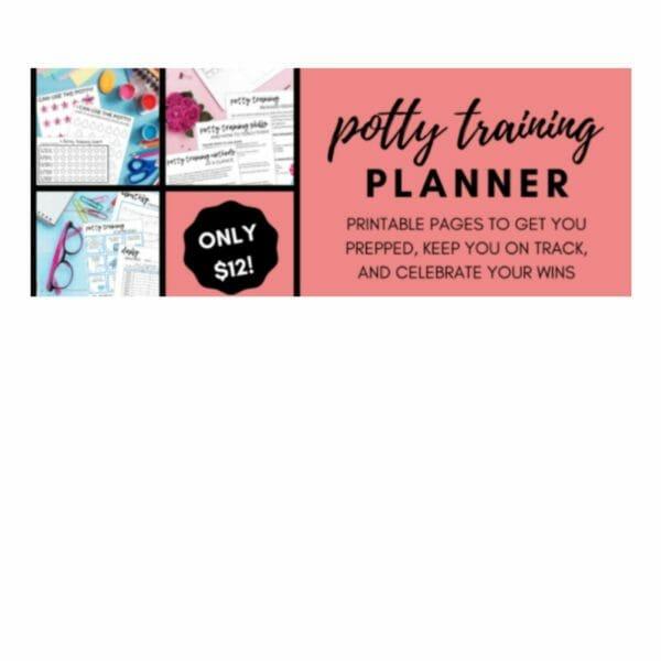 Potty training planner promotion photo.