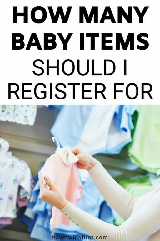 How many baby items should I register for.